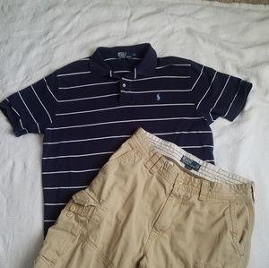 Ralph lauren polo shirt XL, polo khaki shorts 34